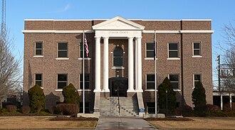 Stanton County, Kansas - Image: Stanton County Courthouse (Kansas) from W 1