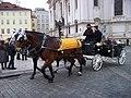 Staroměstské náměstí, kočár u svatého Mikuláše.jpg