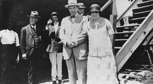 Emu Park, Queensland - Prime Minister Stanley Bruce and Mrs Bruce at Emu Park, 1926