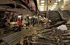 Damage to the Andrew J. Barberi's interior after the 2003 Staten Island Ferry crash