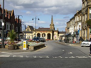 English: Station approach in Saltburn