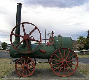 'Preserved' (but incomplete) portable engine, Tenterfield, NSW – an example of a mobile steam engine