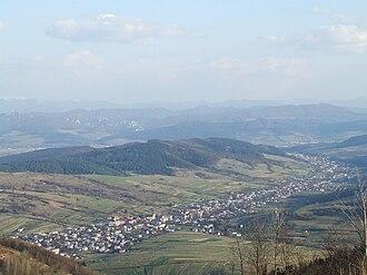 Jan Žižka partisan brigade - View of Štiavnik from Doktorovec hill