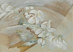 A water color entitled Still Life with Cyclamen by Zelda Fitzgerald