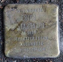 Photo of Erich Stargardt brass plaque