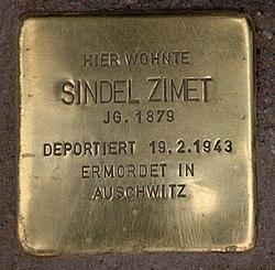 Photo of Sindel Zimet brass plaque