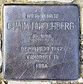 Stolperstein Gleditschstr 80 (Schöb) Chaim Hirschberg.jpg