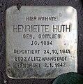 Stolperstein Kaiserdamm 84 (Westend) Henriette Huth.jpg