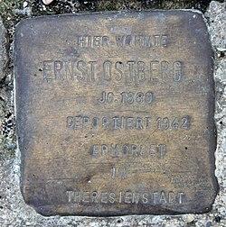 Photo of Ernst Ostberg brass plaque