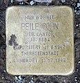 Stolperstein Konstanzer Str 55 (Wilmd) Beile Cohn.jpg