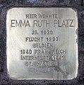 Stolperstein Reichsstr 9 (Westend) Emma Ruth Platz.jpg