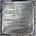 Stolperstein Rungiusstr 33 (Britz) Johanna Grand.jpg