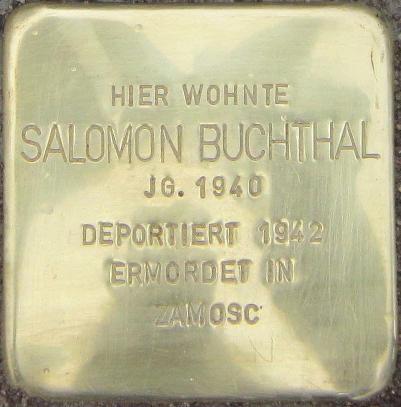Stolperstein Siegen Buchthal Salomon