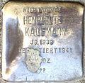 Stumbling stone for Henriette Kaufmann (Alteburger Straße 11)