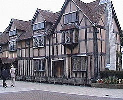 William Shakespeare se geboortehuis in Stratford