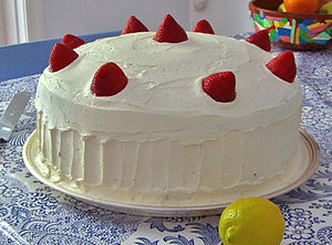 Strawberry Cake created and photographed by &q...