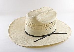 Cowboy hat - A straw cowboy hat