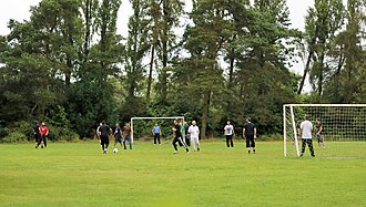 Markfield Institute of Higher Education - Students playing football at the Markfield Institute of Higher Education