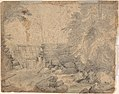 Study of the Side of a Rocky Cliff (recto); Dam on a Mountain Stream (verso) MET DP801537.jpg