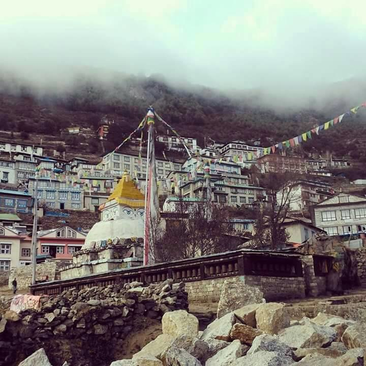 Stupa at Namche Bazaar