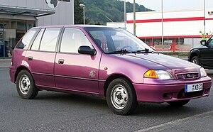Subaru Justy - Image: Subaru Justy purple