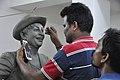 Subimal Das Making Raj Kapoor Sculpture - Kolkata 2017-08-08 4134.JPG