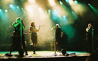 Folk metal - Subway to Sally, seen here performing live at the 2005 Sundstock Openair, has been credited as setting off medieval metal.