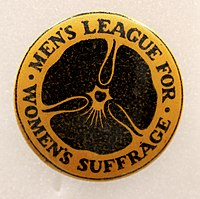 Suffrage Campaigning- Men's League for Women's Suffrage, 1907-1918. (22473716134).jpg