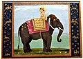 Sultan Shah Jahan (1592-1666 CE) on his elephant Madhukar Gajraj. 18th century CE. From India. Islamic Art Museum (Museum für Islamische Kunst), Berlin.jpg