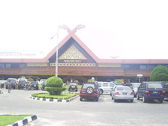 Sultan Syarif Kasim II International Airport - The former terminal building, now demolished.