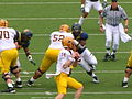 Sun Devils on offense at Arizona State at Cal 2010-10-23 2.JPG