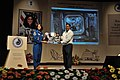 Sunita Lyn Williams Presents NASA Image to Arijit Dutta Choudhury - Science City - Kolkata 2013-04-02 7458.JPG