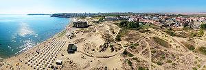 Bulgarian Black Sea Coast - Sunny Beach aerial panorama