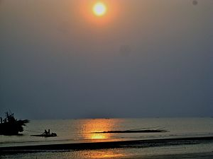 Sagar Island - Sunset at Gangasagar.