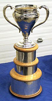 Photo of the Sutherland Cup, first awarded in 1934.