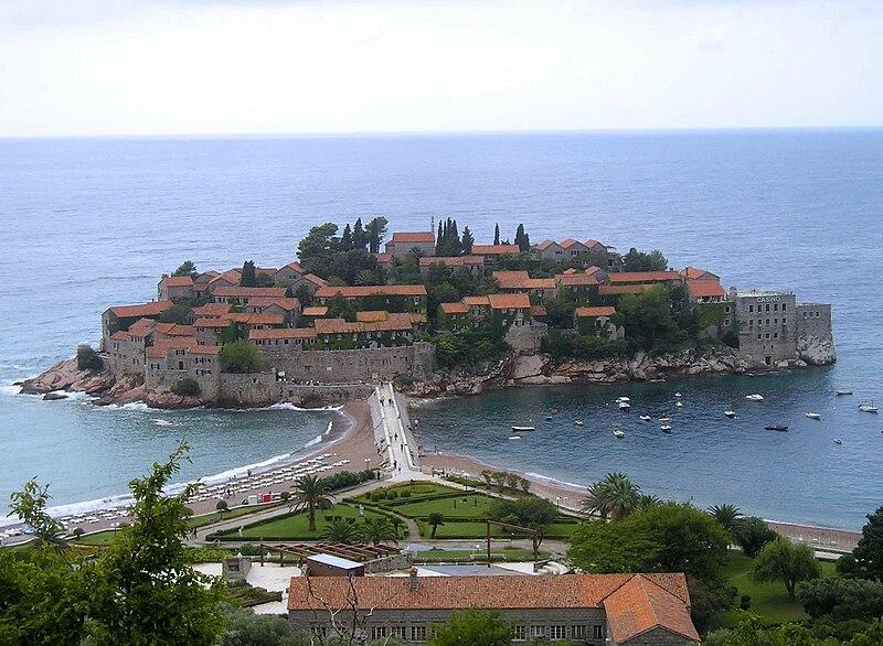 Wsypa Świętego Stefana - Budva Czarnogóra