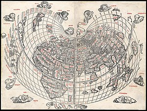 Bonne projection - World map by Bernard Sylvanus, 1511