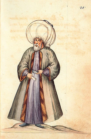 Sharia - Turkish mufti (17th century Spanish drawing)