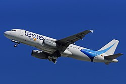 TAME Airbus A320 (HC-COE) at Fort Lauderdale – Hollywood International Airport.jpg