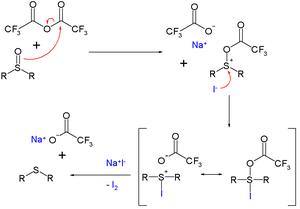 Deoxygenation - TFAA NaI deoxygenation mechanism