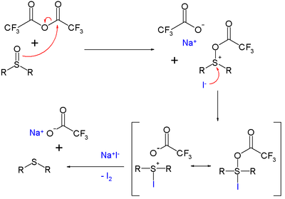 TFAA NaI deoxygenation mechanism
