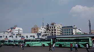 Tamil Nadu State Transport Corporation - TNSTC buses parked at Tiruchirappalli Central bus stand