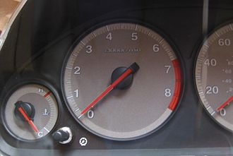 Air core gauge - An auto tachometer has a sweep of about 240-250 degrees and typically uses an air core gauge.