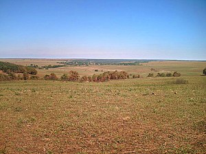 Osage County, Oklahoma - A view of Tallgrass Prairie Preserve in Osage County, Oklahoma