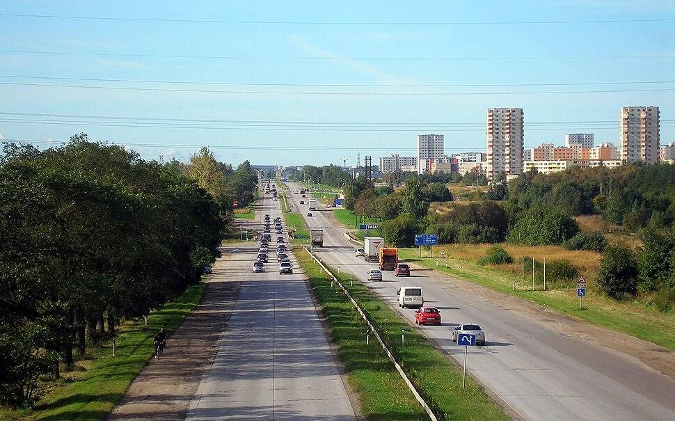 Tallinn-Narva highway in Nehatu