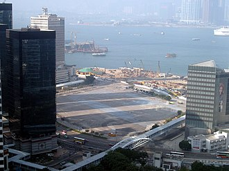 Tamar, Hong Kong - Panorama of Tamar site in 2005.