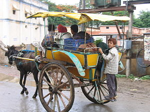 Tanga (carriage) - A Tanga in Jaora, India