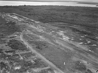 Juwata International Airport - Tarakan airstrip in May 1945