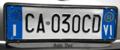 Targa automobilistica Italia 1999 CA•030 CD Vicenza anteriore.png