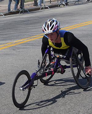 2014 Boston Marathon - Image: Tatyana Mc Fadden in 2014 Boston Marathon